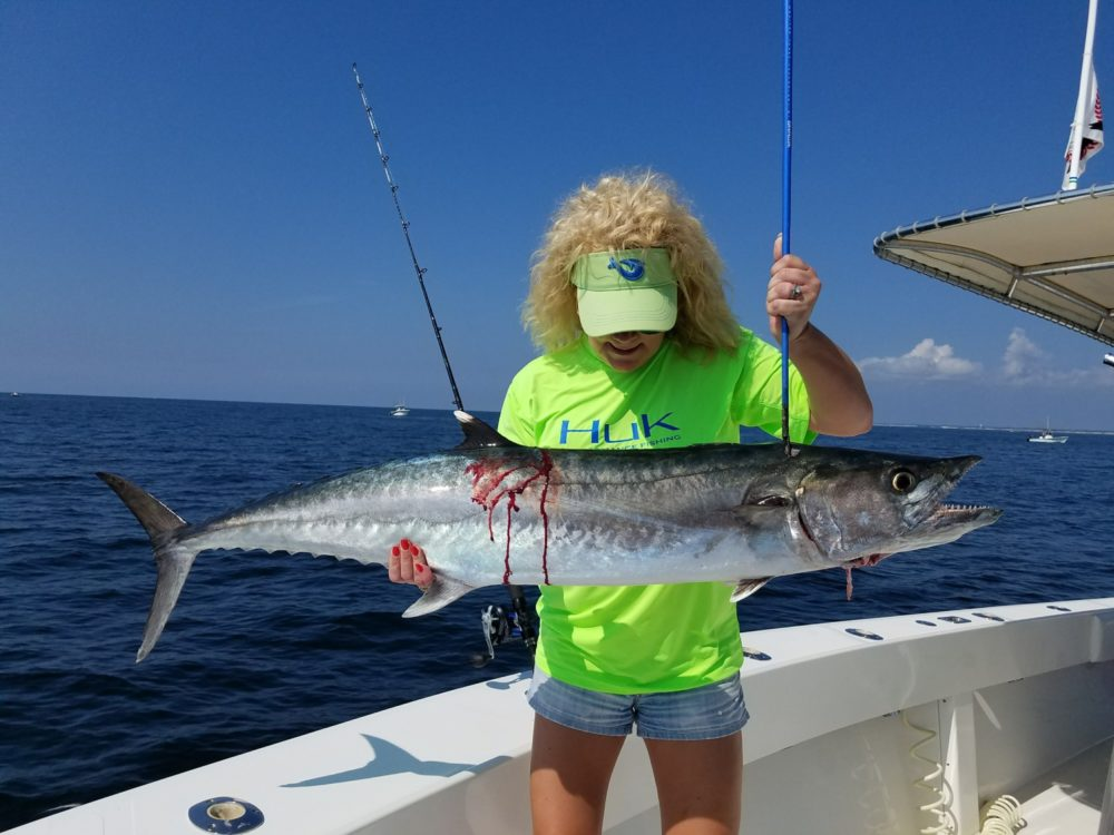 September 2017 holden beach charter fishing rigged for Holden beach fishing